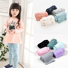 2-7Y Kids Baby Girl's Lovely Tight Pants Stretchy Candy Color Leggings Trousers