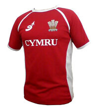 Wales Welsh 'Poly Contrast' Rugby Shirt