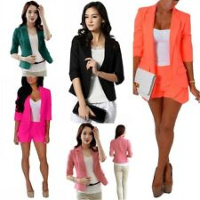 Candy Colors Women's Fashion Solid Slim Casual Suit Blazer Coat Jacket Outerwear