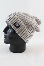 Superdry Mens Wiseman Rib Knit Beanie Hat Oatmeal One Size