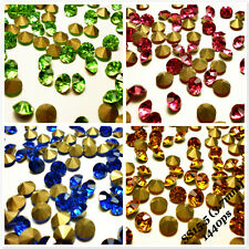 SS15.5 (3.7mm) Rhinestones Pointback Crystal Glass Strass Chaton Nail Art 1440ps