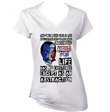 AUGUSTE COMTE INDIVIDUAL LIFE QUOTE - NEW WHITE COTTON LADY TSHIRT