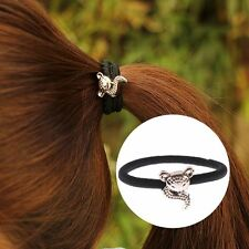 Fashion Rubber Girl Scrunchie Hair Ropes Elastic Band Ponytail Holders