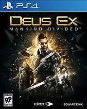 Deus Ex: Mankind Divided - Day One Edition - PlayStation 4 PS4 Brand New/Sealed!