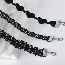 Black Lace Choker Necklaces Women Velvet Choker Love Heart Necklaces Chokers Cho