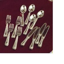 Dolls House Miniature 1/12th Scale PCS Silver Cutlery Set