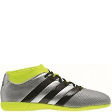 adidas Ace 16.3 Primemesh Indoor Silver/Black/Yellow Soccer Shoes - SoccerGarage