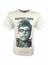 SALE // Mens Size XL Righteous London James Dean Graphic Design T-Shirt in White