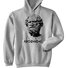 ARCHIMEDES - NEW COTTON GREY HOODIE - ALL SIZES IN STOCK