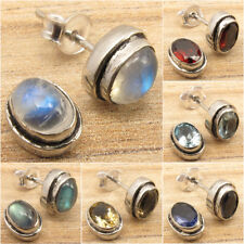 MOONSTONE, LABRADORITE & Other Gemstone Choice, Silver Plated Earrings Jewelry