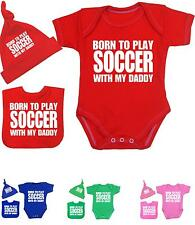 BabyPrem Baby Clothes Boys Girls SOCCER DADDY Creeper One-Piece Vest Shower Gift