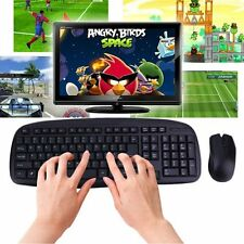 2.4GHZ Wireless Combo Set 1600DPI Computer PC Gaming Mouse + Keyboard Set lot DS