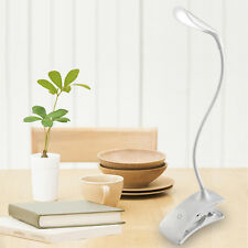 Rechargeable Touch Sensor 14LED Clip-On Desk Table Dimmable Reading Light Lamp S