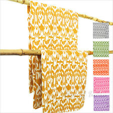 Twin Ikat Kantha Throw Tapestry Quilt Bedspread Blanket Boho Bohemian Indian Hip