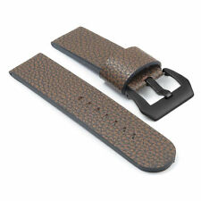 DASSARI Aztek Brown Leather Watch Strap Band Panerai w/ Matte Black Pre-V Buckle