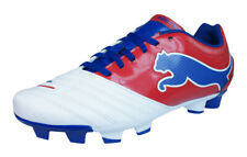 Puma PowerCat 4.12 FG Mens Soccer Cleats / Boots - White