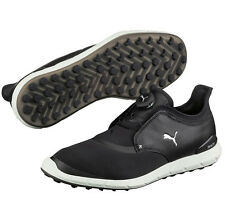 New 2017 Puma Golf Ignite Spikeless Sport Disc Golf Shoes Black/White 189928-01