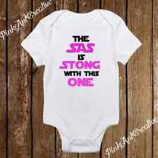 The SAS is Strong with this one Star Wars Baby Girl clothes newborn onesies