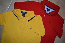 Ralph Lauren and Tommy Hilfiger polo shirts, size 6 and 7
