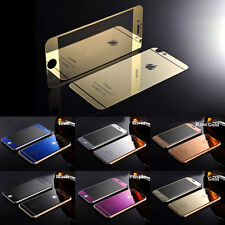 Front + Back Tempered Glass Mirror Screen Protector For Apple iPhone 7 6S Plus 5