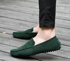 SALE Men Casual Suede Leather Slip On Driving Shoes Moccasin Loafer Flat Shoes