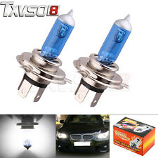 2x 12V 100W H4 H7 Xenon White 6000k Halogen Blue Car HeadLight Lamp Globes/Bulbs