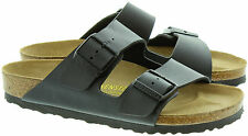 BIRKENSTOCK ARIZONA  GIZEH  PATENT WHITE / BLACK Arizona Soft Footbed NEW L M 33