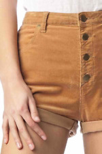 NEW ROLLAS DUSTERS CORD SHORTS TAN CORD