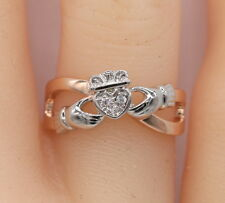 Two-tone Claddagh Ring in Sterling Silver #952
