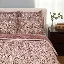 Fair Trade Bedding Set | Queen King | NWT | handprinted in India | burgundy