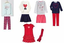 NWT Gymboree, GAP, & Children's Place Girl's Valentine 2pc Outfits