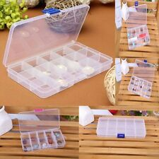 10-15 Slots Jewelry Box Clear Earrings Holder Storage Case Pedants Containers