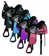 Nylon Cordura Saddle with Suede Leather Seat and Leather Jockeys! Colors!