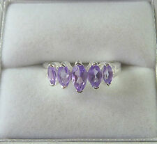 Genuine Amethyst, Garnet, and Topaz Solid 925 sterling Silver Rings