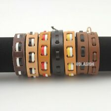 New Tribal Mens Womens Leather Bracelet Ethnic Cuff Jewelry Lucky Wristband Gift