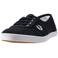 Fred Perry Aubrey Twill Womens Trainers Black New Shoes