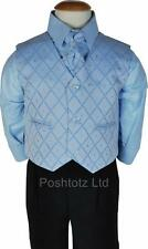 BOYS SUIT , BABY BLACK & BLUE SUITs PROM WEDDING PAGEBOY 0-3 mths to 8-9 yrs