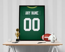 Green Bay Packers Jersey Poster - Personalized Name & Number FREE US SHIPPING