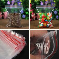 100x Resealable Clear Plastic Seal Zipper Lock Bags Poly Storage Bag Reclosable
