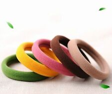 30Pcs Quality Thick Endless Snag Free Hair Band Elastics Bobbles Rope Ponytail