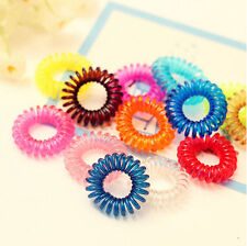 Spiral Plastic Hair Cuff Ponytail Clip Tie Holder Hair Band Elastic Wrap Random