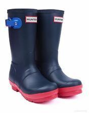 NEW ** CONTRAST BLUE **  CHILDRENS HUNTER WELLIES WELLINGTON RIDING BOOTS SIZE13
