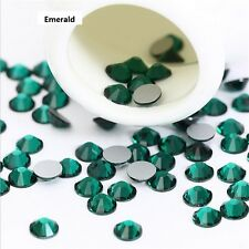 Wholesale 1440pcs Crystal Emerald Rhinestones Flat Back 3D Nail Art Accessories