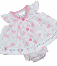 BabyPrem PREEMIE MICRO Baby Dresses Clothes Girls Tiny Dress White Pink 3-8lb