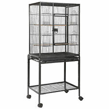 """53"""" Large Bird Parrot Cage Chinchilla Cockatiel Conure House w/Stand Pet Supply"""