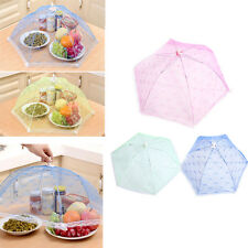 Foldable Food Umbrella Cover Protector Insect Net Picnic Kitchen Party Lace Mesh