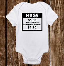 Hugs College Ain't Cheap Grandparents Baby Unisex/Boy/Girl Onesie Funny Shower