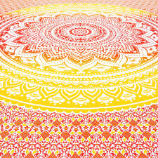 Queen Ombre Mandala Wall Hanging Tapestry Bedspread Boho Bohemian Indian Hippie