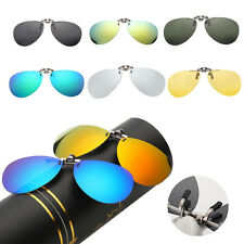 U Driving Polarized UV400 Lens Clip-on Flip-up Myopia Glasses SunGlasses