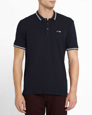Armani Jeans Mens Navy Cotton Pique Slim-Fit Polo Shirt All Sizes